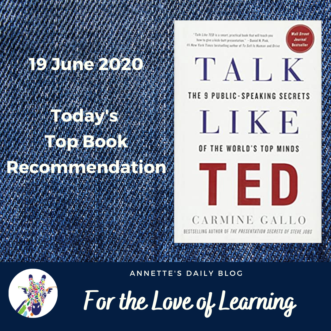 For the Love of Learning, 19 June 2020 : Today's Top Book Recommendation