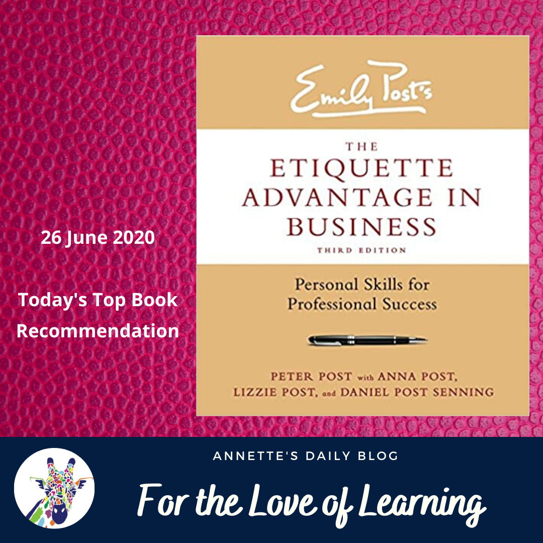 For the Love of Learning, 26 June 2020 : Today's Top Book Recommendation