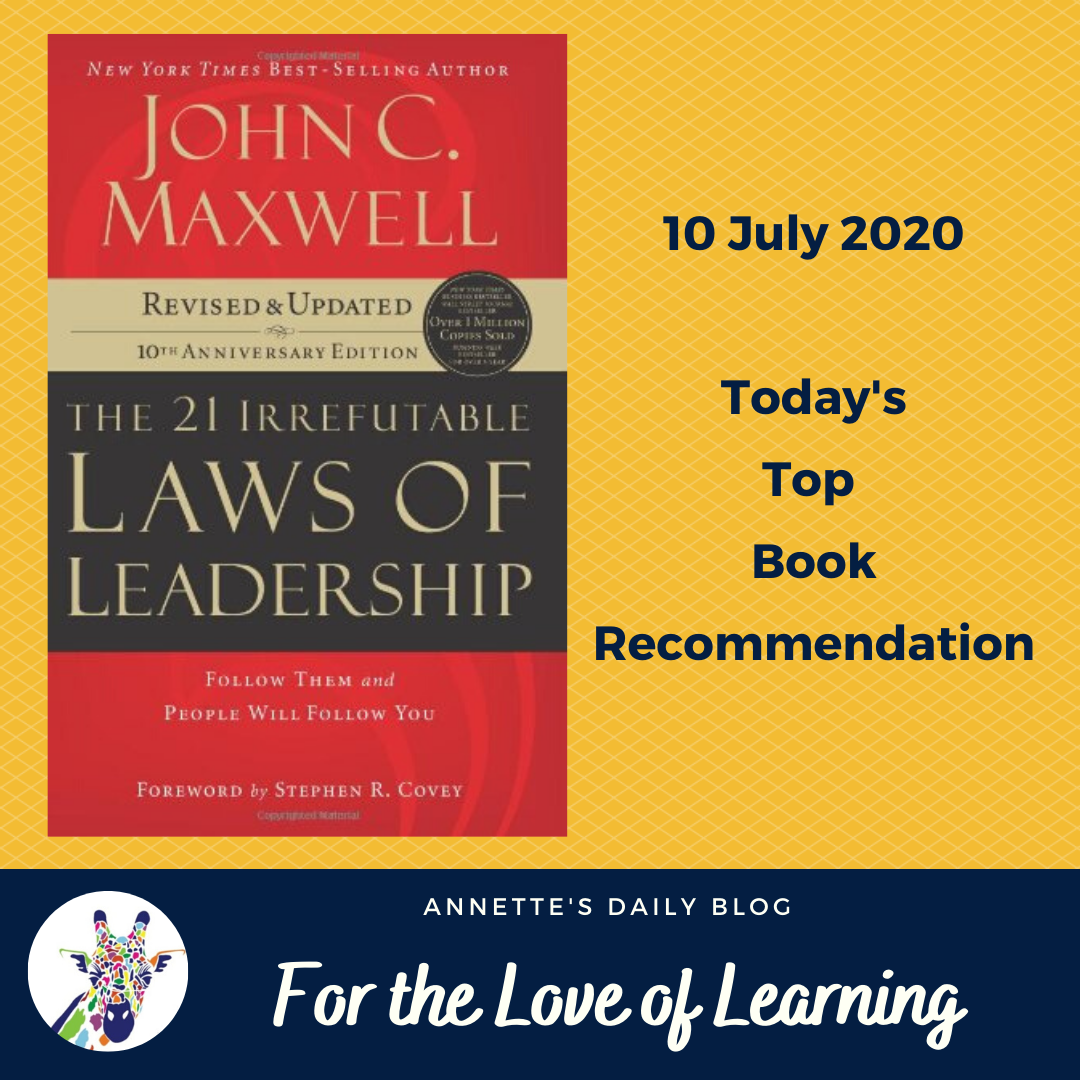 For the Love of Learning, 10 July 2020 : Today's Top Book Recommendation