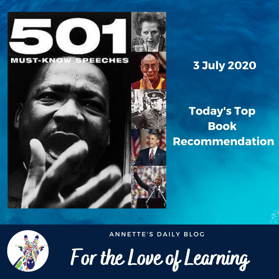 For the Love of Learning, 3 July 2020: Today's Top Book Recommendation